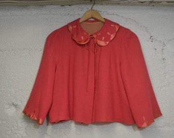 Pink Swing Jacket with Peter Pan Collar - Karam NY