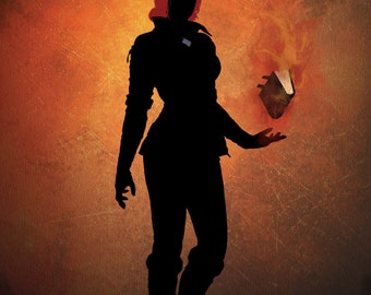Triss from the Witcher series, stylish print / poster