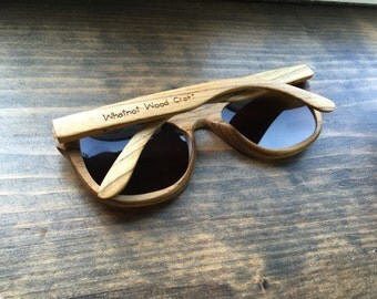 Personalised wooden sunglasses