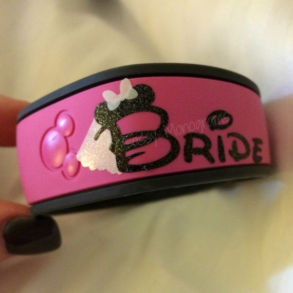 Bride OR Groom Magic Band Vinyl Decal Quick To Ship - Magic band vinyl decals