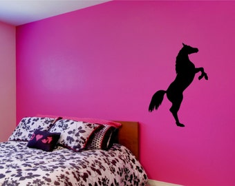 Rearing horse wall sticker decal design
