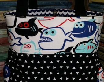 Fishy/Nautical Diaper Bag!