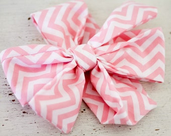 Baby headband;Rosie Wrap-headwrap; pink chevron fabric head wrap; newborn headband; baby headband; toddler headband; adult headband; girl he