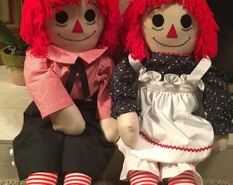Raggedy Anne & Andy Dolls
