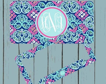 Monogram License Plate Frame Lily Pulitzer Inspired License Plate-Monogram Personalized Car Tag Personalized Plate  Car Tag Monogram