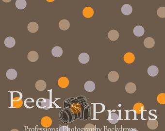 Fall Backdrop 7ft.x7ft. Polka Dots Vinyl Photography Backdrop - Fall Halloween Backdrops- Background - *Greyson's Dots*