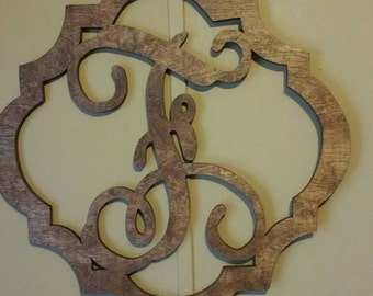 Solid wood Monogram Door Decor