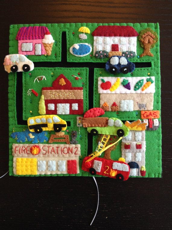 City Quiet Book Page Playset