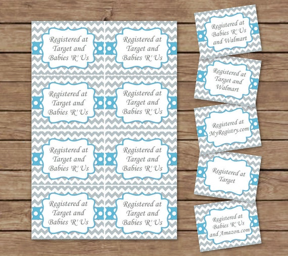 Registry Card Inserts Printable Instant Download