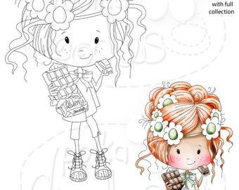 Mmmm Chocolate! -Winnie Sugar Sprinkles - Digital Stamp download