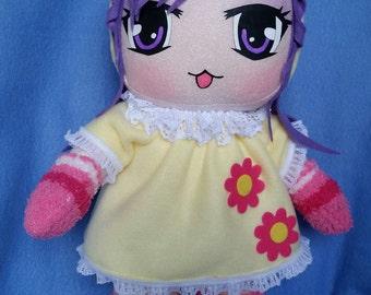 Anime doll yellow hood (kawaii)