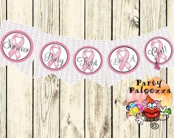 Printable  Breast Cancer Survivor Banner
