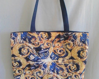Doctor Who Exploding TARDIS Tote Bag