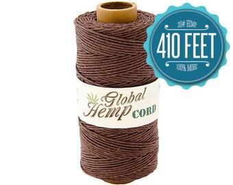 Global Hemp Brown Polished Hemp Cord - 1 mm - 410 Feet