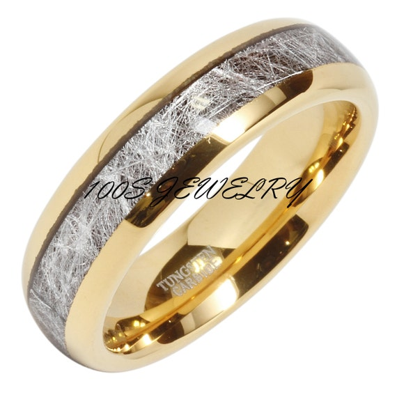 6mm Mens Amp Womens Tungsten Carbide Ring Meteorite By 100SJEWELRY