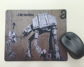 Banksy Star Wars Graffiti Funny Mousepad / Mouse Mat