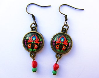 Hungarian Matyó earrings