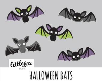 Halloween Bats Vector Clipart