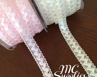 Pleated trim,pleated ribbon,headband trim,embellishment,card making,gift wrapping,weddings,hair accessories,scrapbooking,floral arrangements