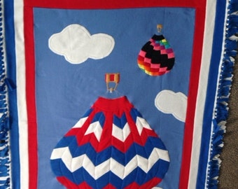 HOT AIR BALLOON Fleece Throw