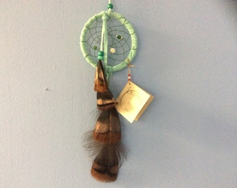 Car Dream Catchers, Mint Green Dream Catcher, Small Dream Catchers for Rearview Mirror, Made in Canada