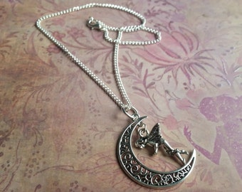 Enchanted Fairy Moon Necklace