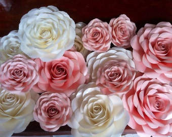 Sale Paper roses backdrop