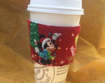 Very Merry Christmas Minnie Mouse Reusable Coffee Sleeve