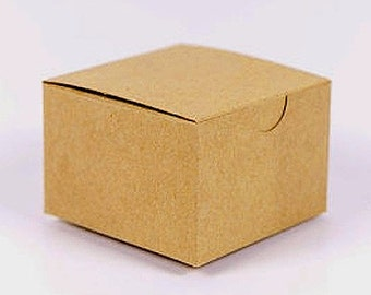 """Kraft Brown Cookie, Candy Favor Treat Gift Box - 3x3x2"""""""