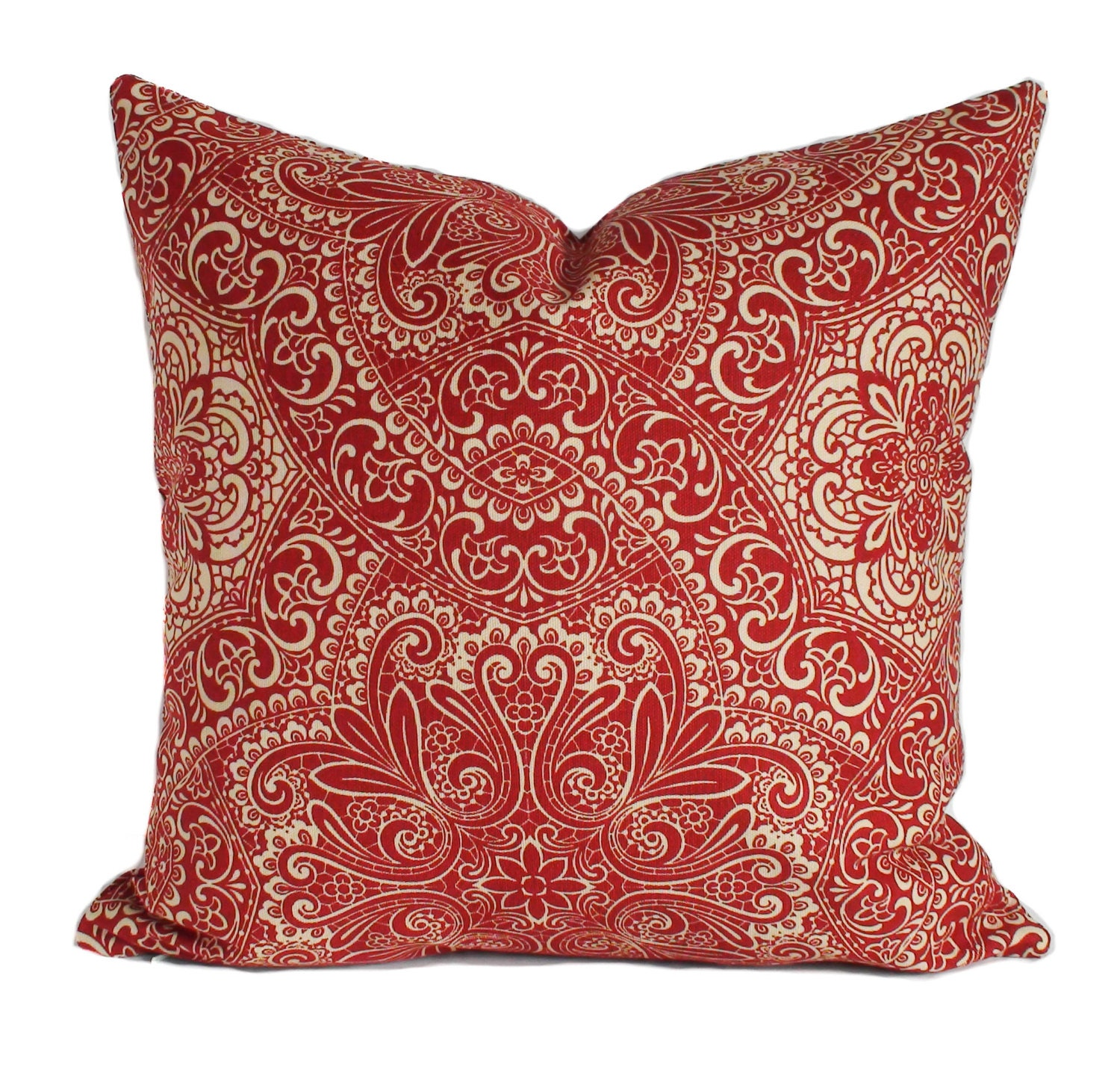 How To Make Decorative Throw Pillow Covers : Red pillow cover Decorative pillow Red throw pillow