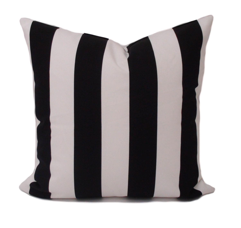 Pillow cover 20x20 Black white pillow Throw pillow
