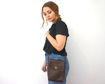 80s Vintage Coach Purse// Coach Clutch// Evening Purse// Authentic Coach// Brown Leather