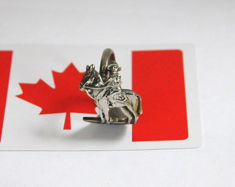 horse ring,  rcmp ring, spoon ring, mountie ring, canadian ring