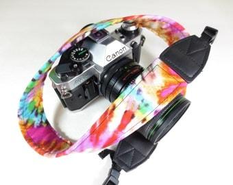 Tie Dye Camera Strap - Hippie - 60's - DSLR / SLR