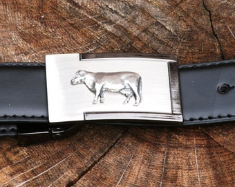 Beef Cow Belt and Buckle Set Ideal Farming Gift Present