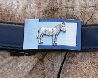 Donkey Ass Pewter Design Belt and Buckle Set Ideal Farming Gift Present