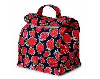 MTO Insulated lunch bag with handle - Strawberries