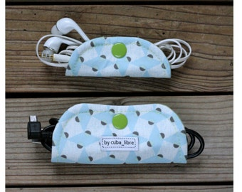 Ear buds & charger holders - Squares