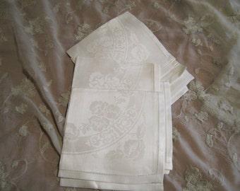 Vintage Linen Napkins Set of 6