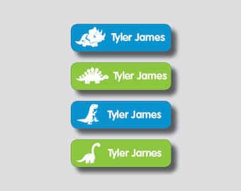 DINOSAUR Waterproof Stickers, Personalized Vinyl Labels, Sippy Cup Stickers, Back to School Waterproof Labels, Daycare Stickers, Camp Labels