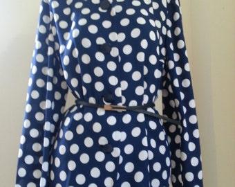 GIVENCHY GLAMOUR, Polka dot blouse Size 15
