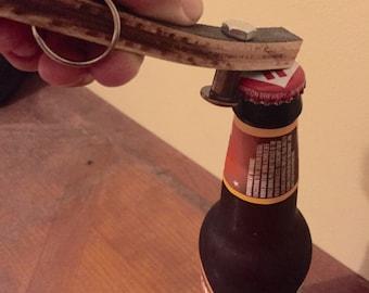 recycled skateboard bottle opener keychains