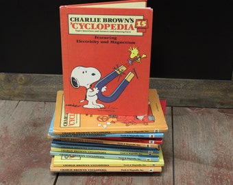 Vintage Charlie Brown 'Cyclopedia Complete Set 15 Books! Free US Shipping!