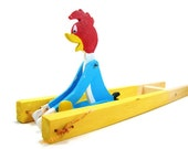 Vintage Woody Woodpecker ~ The Dizzy Acrobat ~ Wooden Trapeze ~ Squeeze Toy