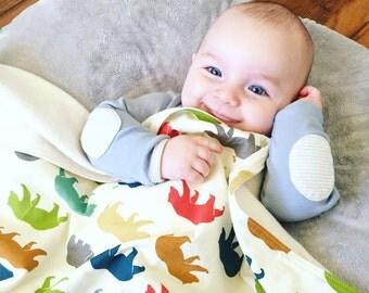Organic Baby Blanket, Choose Your Print, Luxury Baby Gift, Modern Stroller Blanket, Car Seat Blanket, Flannel Baby Blanket, Baby Shower Gift