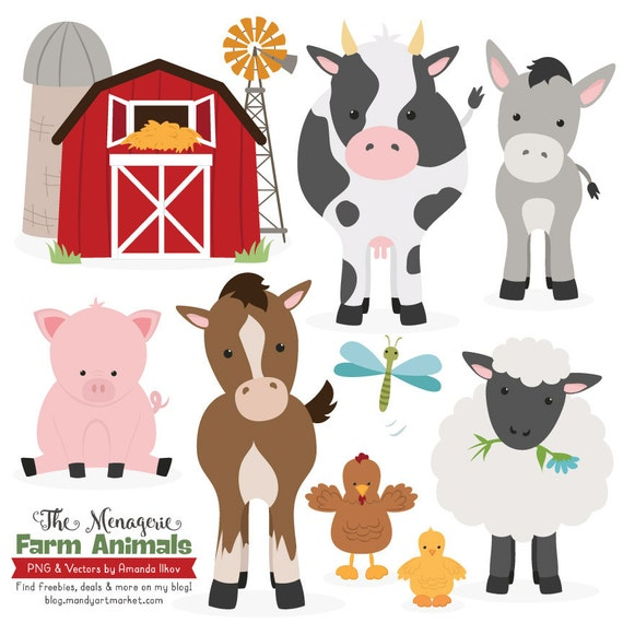 Clip Art Farm Animals Clipart premium farm animals clip art vectors clipart animal vectors