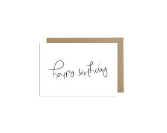 Cute Happy Birthday Card Calligraphy Handlettering Cards