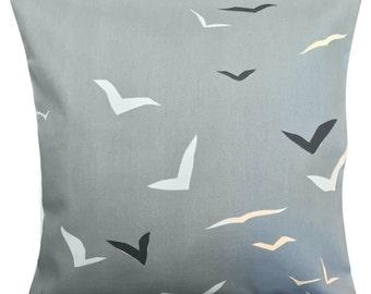 Scion Flight Denim Blue & Chalk Cushion Cover