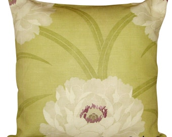 Sanderson Leora Green Floral Cushion Cover