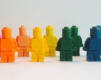 6 LEGO crayons, LEGO Party Favor, LEGO Birthday, Back To School, Lego Friends, Classroom Valentine, stocking stuffer